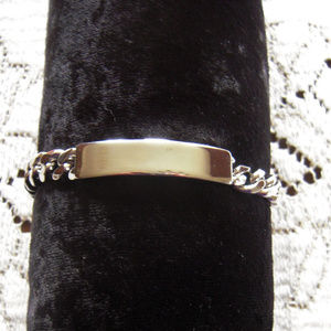Mens  ID bracelet Silver Tone Sz Large by Avon
